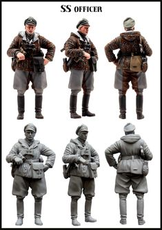 SS officer from Evolution Miniatures. 1/35 scale resin figure in winter gear. A simple but perfect sculpt for most dioramas!