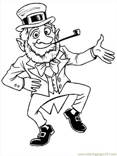 Leprechaun Coloring Page 2 Cartoon Activities and Free