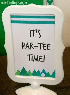Have a golf-lovin', 'tee-rific' dad in the house? Here's a golf-themed party that will have the whole family celebrating.                  ...