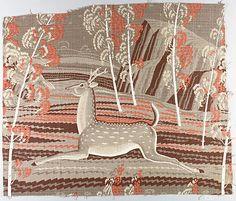 Deer Season, printed cotton, 1950 - Rockwell Kent