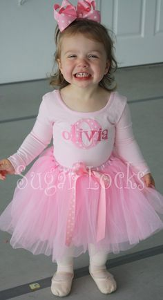 Pink Polka Dots Initial and Name Personalized Leotard
