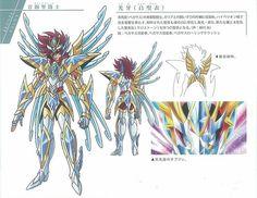 Resultado de imagen para armaduras omega saint seiya omega