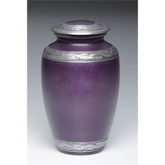 Purple and Pewter Urn for Ashes