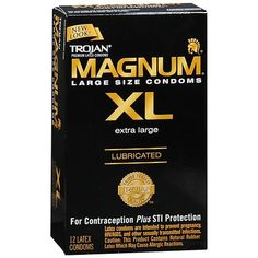 Trojan XL Lubricated Latex Condoms Extra Large - 12 ea
