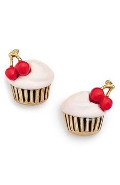 kate spade new york kate spade new york 'magnolia bakery - cupcake' stud earrings available at #Nordstrom