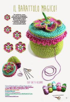ElenaRegina wool:  THE ENCHANTED GARDEN by Daniela Cerri