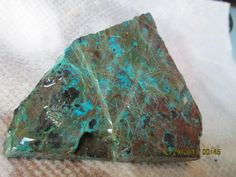 Large Thick Cut Turquoise Green Chrysocolla by mnblarneystone, $25.00
