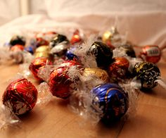 Lindt Truffles! The milk chocolate and dark chocolate are out of this world good.