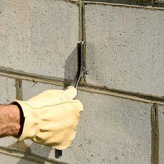 Checking mortar