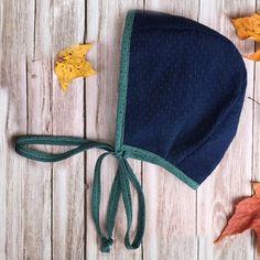 d e n i m • t e a l, modern eco friendly baby bonnet