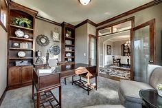 I love this brown trim and woodwork!!!