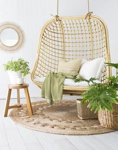 Our Coco double hanging chair for when you are happy to share. Made from natural rattan therefor hanging indoor or under sheltered areas is recommended. Please keep away from rain. White Cushions, Chair Cushions, Swivel Chair, Living Room Chairs, Dining Chairs, Desk Chairs, Office Chairs, Side Chairs, Beach Chairs