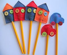 More felt pencil toppers!