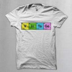 Vintage: chemical elements t shirt - Vintageness Collection - Vintage t shirts www.vintage.it