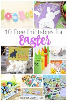 10 free easter printables