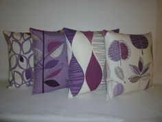 "Pillow Covers Damson Purple Grape 4 CHOICES Mix Match Designer Gray Cushion Covers Shams Slips Scatter Throw PAIR 16"" (40cm). $29.00, via Etsy."