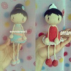 Boneka lama yg sdh berpindah tangan... #amigurumi #crochetdoll #crochet #rajut #bonekarajut #handmade #hobby by ennarest