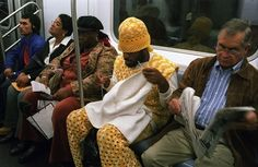 Crocheting enthusiasts: | 26 Things You'll See On Public Transportation............LMAO