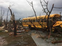 A tornado tore through the town of Hattiesburg, Mississippi, during the early morning hours on Saturday.