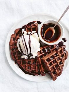 chocolate chai waffles with spiced chocolate syrup from donna hay magazine Thank You For Your #Saves & #Pins & #Likes