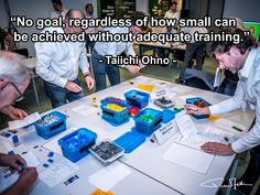 No goal, regardless of how small can be achieved without adequate training - Taiichi Ohno - Supply Chain Logistics, Training, Goals, Quotes, Quotations, Work Outs, Excercise, Onderwijs, Quote