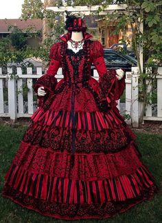 Masquerade Circus Ball Gown Gothic Victorian by RomanticThreads