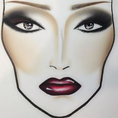 Makeup Face Chart Sketches & Illustrations-- beauty inspiration