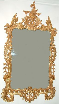 """Chippendale Revival mirror Ca1930 England. 63""""H x 35""""W."""