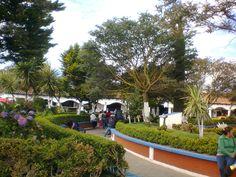 Vista del parque en el centro de Chignahuapan.