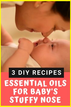Learn how to use essential oils to help naturally treat a stuffy nose baby- 3 DIY Home Remedies- Naturally clear congestion. remedies baking soda remedies diy home remedies skin care remedies sore throat remedies treats Stuffy Nose Essential Oils, Essential Oils For Congestion, Essential Oils For Babies, Best Essential Oils, Young Living Essential Oils, Clear Stuffy Nose, Congested Nose, Essential Oil Diffuser Blends, Top