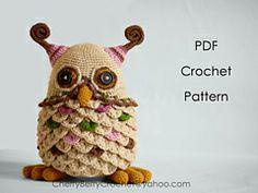 Ravelry: Buho del juguete o contenedor PDF crochet patrón patrón por Cherry Berry Crochet