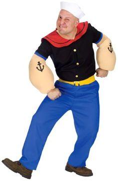 Amazon.com: Fun World Costumes Men's Mens Popeye Costume, Blue, One Size: Clothing