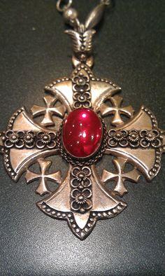 Beautiful Silver Vintage Crusader Cross by SeaSirensArtGallery, $139.00
