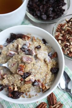 Breakfast Quinoa. Why have I never thought of this as an option!!