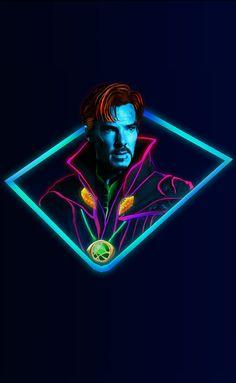 Doctor Strange:Marvel Neon Wallpaper