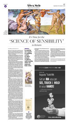 It's Time for the 'Science of Sensibility' to Return|Epoch Times #Arts #newspaper #editorialdesign