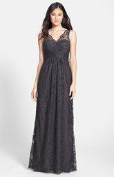 Amsale Empire Lace Gown