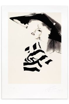 Artist David Downton's beautiful Dior Couture autumn/winter 2009 illustration for Vogue's Art in Fashion