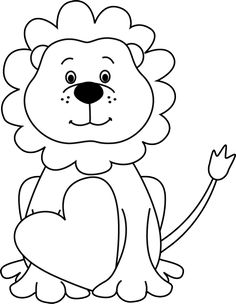 It's just an image of Obsessed Valentine Lion Coloring Page