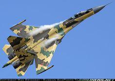 "Air Force - Sukhoi ""Su-35S"" (NATO Name: Flanker-E) (901 Black) Is a Single Seat, Twin Engine Super Maneuverable Multi Role Fighter- Ramenskoye (Zhukovsky) (IATA: ""ZIA"" – ICAO: ""UUBW"") Russia - Aug, 2009"