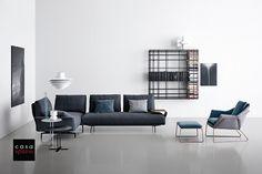 Modern Sectional Sofa: Avant-Apres by Saba - Web 2020 Best Site Living Furniture, Sofa Furniture, Interior Design Living Room, Furniture Showroom, Rustic Furniture, Modern Sectional, Sectional Sofa, Italian Furniture Brands, Sofa Side Table