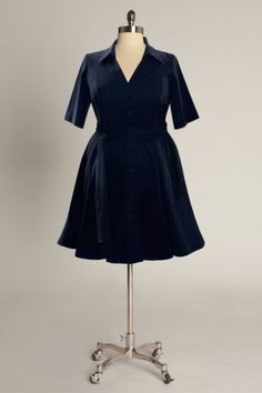 Eliza Parker, Vineyard Dress in Navy.  $148.  Nice dress, but too high maintenance (hand wash or machine wash, gentle cycle and lay flat to dry - who has time for that???).