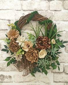 Neutral Summer Wreath for Door, Front Door Wreath, Outdoor Wreath, Burlap…