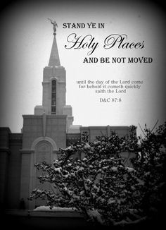 Stand Ye in Holy Places 5X7