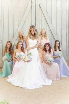 mix and match bridesmaid dresses and not amsale!