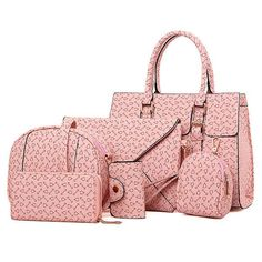 Women Stylish Geometric Pattern Handbag Crossbody Bag Wallet Key Holder