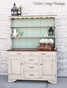 roadkill redo | chalk paint hutch, painted hutch and chalk paint