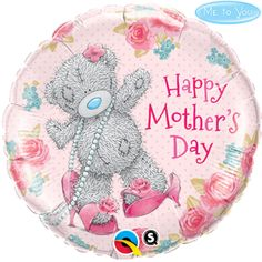 Balloons: Happy Mother's Day Tatty Teddy Foil Balloon (each) (inflated price Round Balloons, Blue Balloons, Helium Balloons, Foil Balloons, Balloon Shop, Balloon Gift, The Balloon, Discount Party Supplies, Online Party Supplies