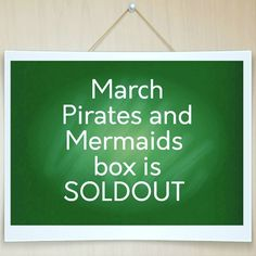 We've done it again! SOLDOUT. We'd like to thank all of our past/current subscribers and welcome all of our new subscribers . Welcome aboard and we hope you love what we do here at SpearCraft Book Box. The March box is awesome. It has an even mix of Pirate and Mermaid related items that you are going to love. We're including 2 items never seen in our box before that you can use everyday.  Did you miss this box? If any of our subscribers skip March those boxes will be up for sale after we…