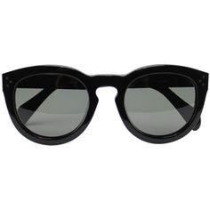 Céline Preppy sunglasses (3.390 DKK) ❤ liked on Polyvore featuring accessories, eyewear, sunglasses, glasses, black, celine eyewear, acetate sunglasses, summer glasses, preppy glasses and summer sunglasses